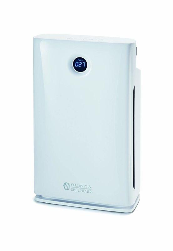 Purificator de aer portabil Olimpia, cu filtru anti-praf, filtru HEPA, filtru de carbune active, sterilizator uv si ionizat, cu reglare automata, 99426