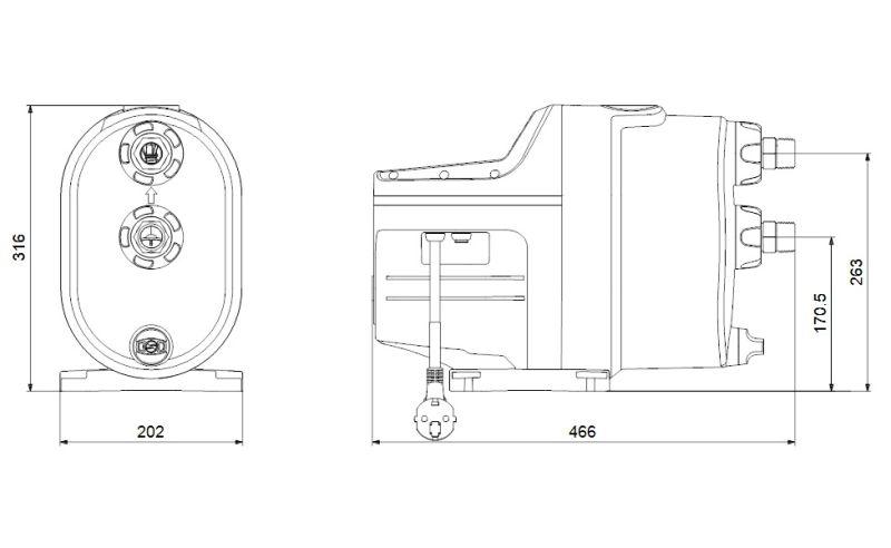 Hidrofor Grundfos Scala1 3-35, cu pompa + motor + senzor + clapeta unisens, 720 W