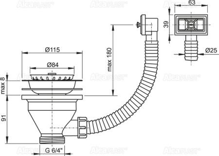 VENTIL INOX 1.1/2 SITA INOX-115 PREAPLIN A38