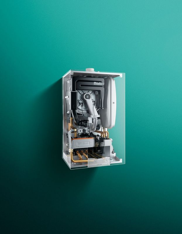 Centrala termica pe gaz, cu condensare, Vaillant ecoTEC Plus VUW 26CS/1-5, 26 kW, cu kit evacuare