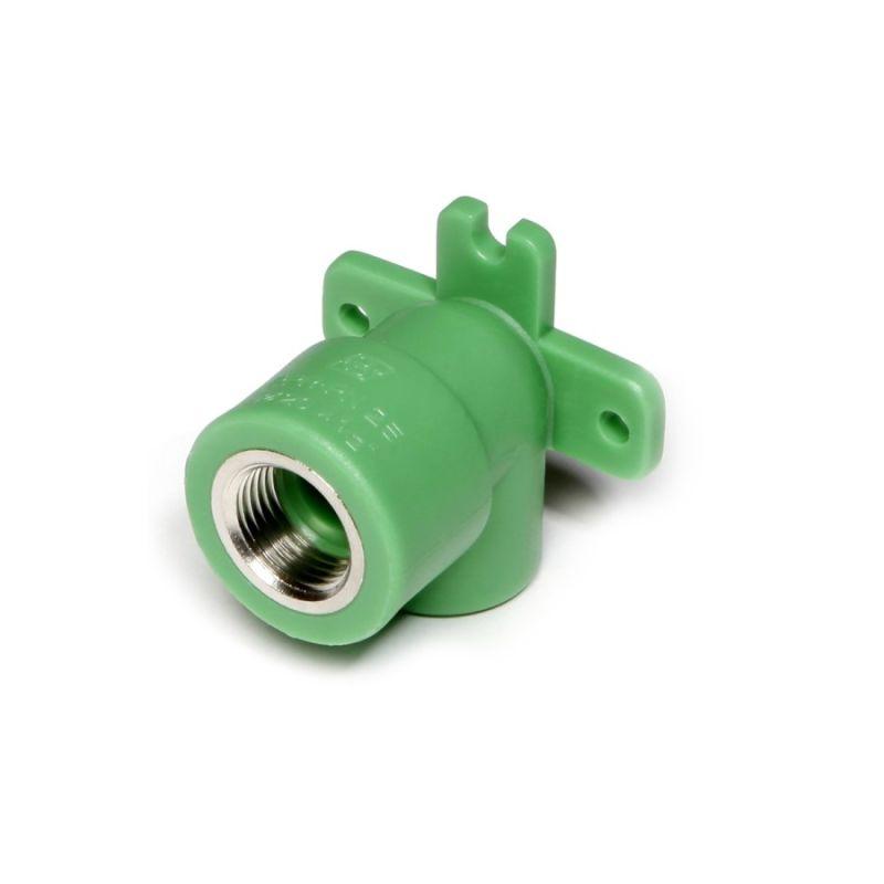 Cot PPR, cu flansa, verde, FI-FI, 20 mm x 1/2