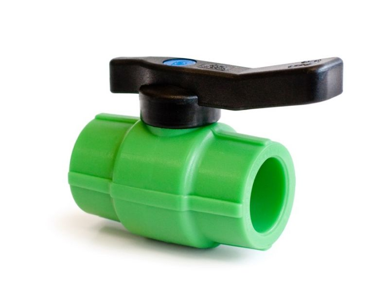 Robinet de trecere cu bila Plastica Alfa, PPR verde, DN 32