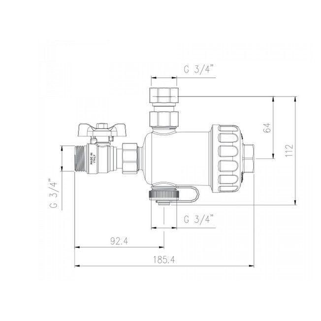 Filtru antimagnetita pentru centrale termice Rbm MG1 3/4 30700500