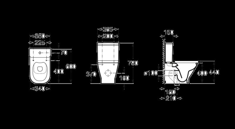 Rezervor pe vas Roca The Gap compact A341730000