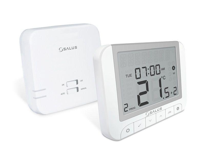 Termostat ambiental Salus RT520RF wireless, programabil, cu functii Opentherm si Tpi