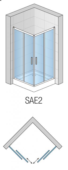Cabina patrata dus SanSwiss Salia 100 x 100 x 190 cm, usa culisanta, SAE210005007