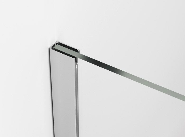 Perete dus WALK-IN fix Easy, L.90 x H.200 cm, profil slefuit si sticla transparenta 8MM, STR4P0905007