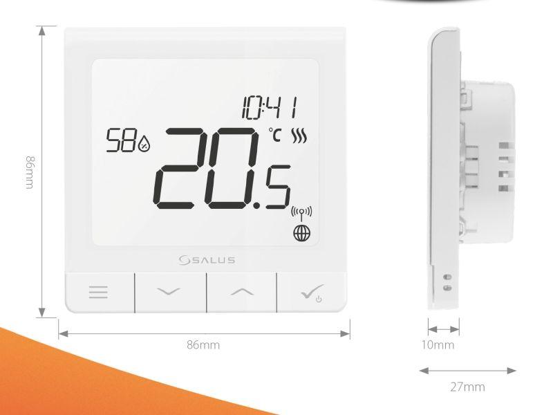 Termostat ambiental Salus Quantum SQ610 wireless, programabil, montaj in doza